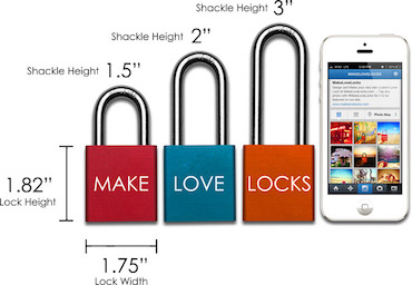 Love Lock Size